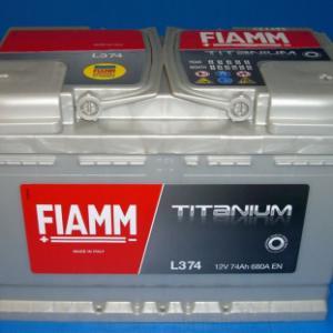 Fiamm Titanium 12V 74ah EN 680 (L374)